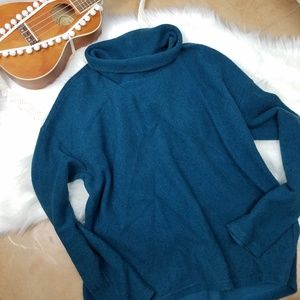Banana Republic Factory Blue Cowl Neck Sweater M